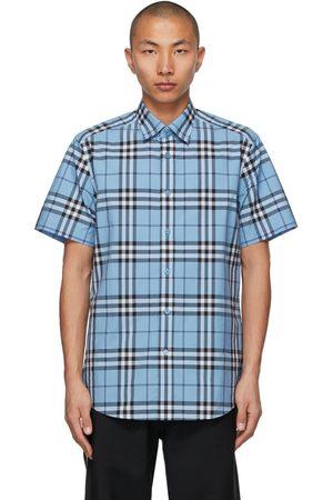 Burberry Poplin Check Short Sleeve Shirt