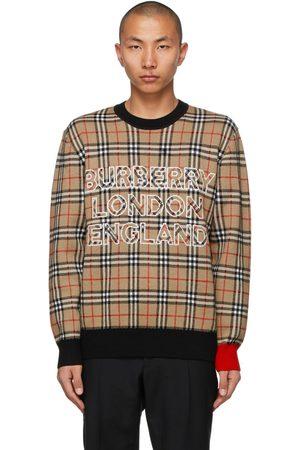 Burberry Jacquard Check Logo Sweater