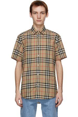 Burberry Check Poplin Short Sleeve Shirt