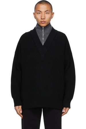 Burberry Cashmere Pipard Half-Zip Sweater