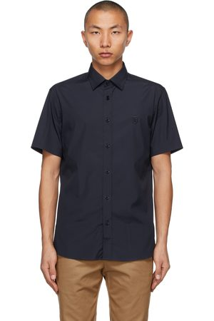 Burberry Men Short sleeves - Navy Sherwood Short Sleeve Shirt