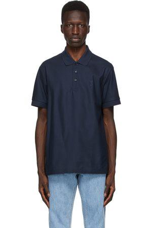 Burberry Men Polo Shirts - Navy Eddie Polo
