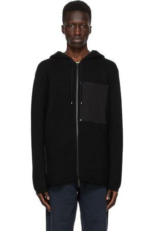 Burberry Men Hoodies - Wool Contrast Pocket Hoodie