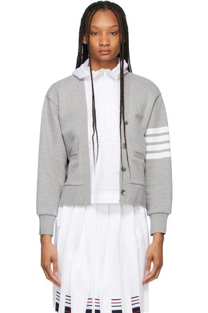 Thom Browne Grey Loopback and Ripstop 4-Bar Trompe Loeil Hoodie