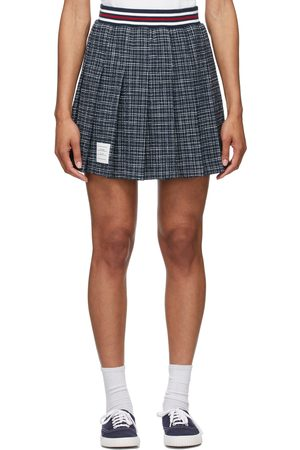 Thom Browne Tweed Small Hairline Check Miniskirt
