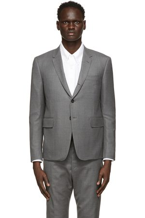 Thom Browne Grey High Armhole Sport Coat Blazer