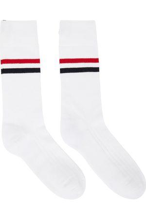 Thom Browne Whitee RWB Stripe Mid-Calf Athletic Socks