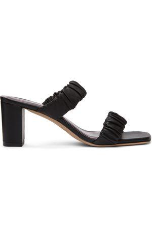 Staud Women Sandals - Frankie Ruched Heeled Sandals