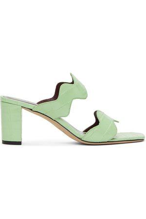 Staud Frankie Wavy Heeled Sandals