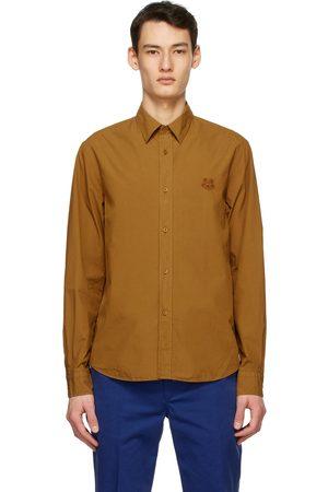 Kenzo Men Shirts - Tan Tiger Crest Shirt