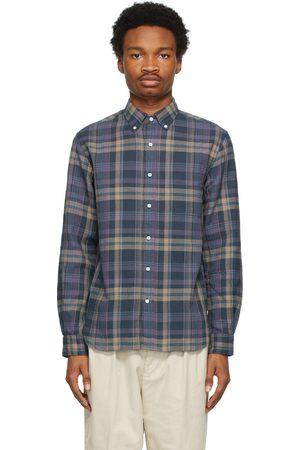 Beams Men Shirts - Check Button-Down Shirt