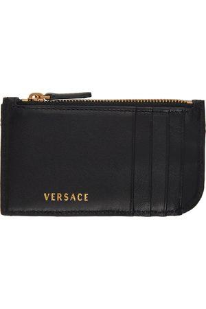 VERSACE Women Wallets - Quilted Vitrus Zip Card Holder