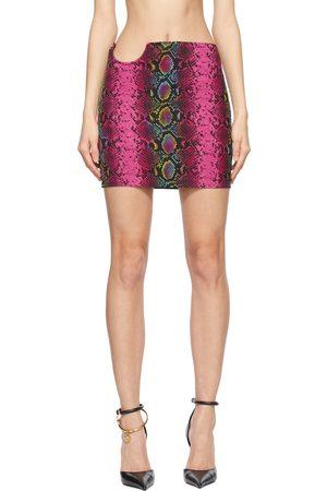 VERSACE Snake Print Mini Skirt