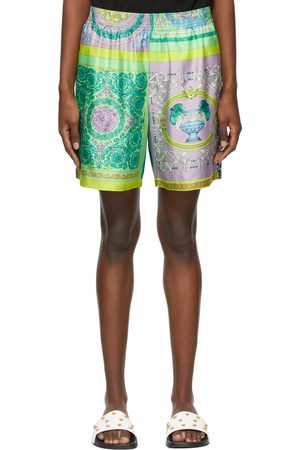 VERSACE Leopard and Barocco Mosaic Shorts