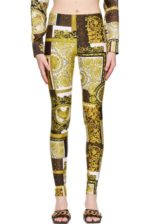 VERSACE Barocco Patchwork Print Leggings