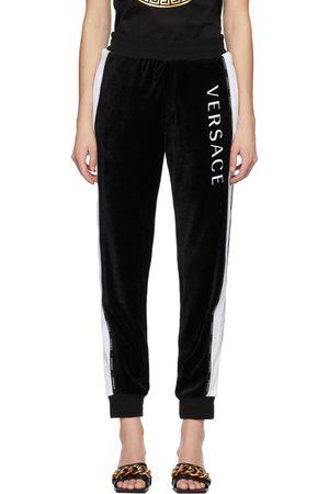 VERSACE Velour Logo Lounge Pants