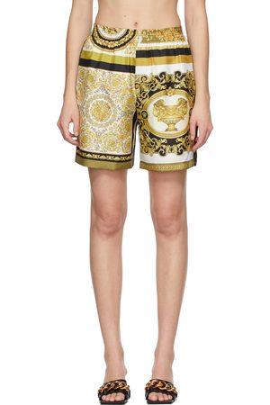 VERSACE And Silk Barocco Mosaic Shorts