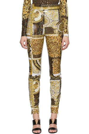VERSACE Women Leggings - Barocco Patchwork Legging Trousers