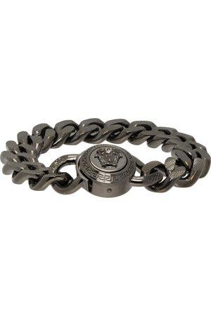 VERSACE Gunmetal Medusa Chain Bracelet
