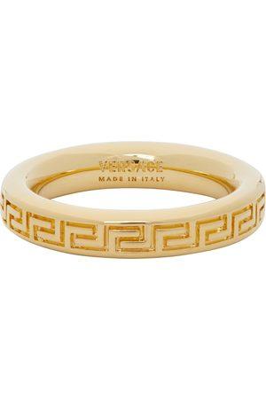 VERSACE Thin Engraved Greek Key Ring