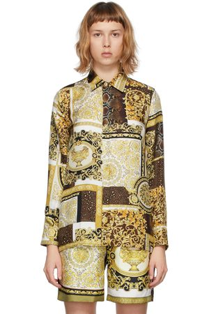 VERSACE Women Shirts - And Silk Barocco Mosaic Shirt