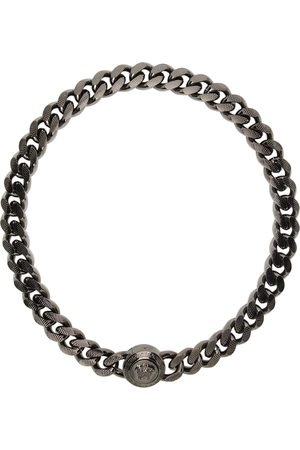 VERSACE Men Bracelets - Gunmetal Medusa Chain Bracelet