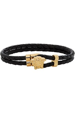 VERSACE And Leather Medusa Bracelet