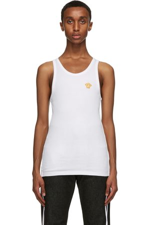 VERSACE Embroidered Medusa Tank Top