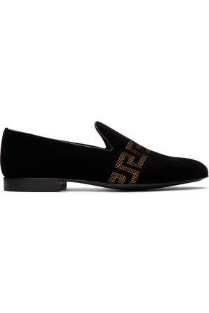 VERSACE Embroidered Greca Loafers