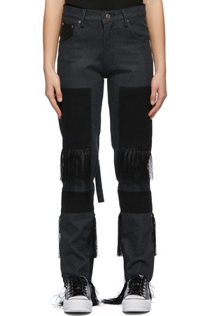 Youths in Balaclava Grey and Fringed High Waisted Jeans