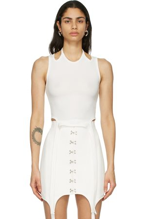 DION LEE Off- Halter Tie Tank Top