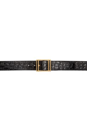 Saint Laurent Women Belts - Croc Screen Buckle Belt