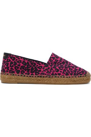 Saint Laurent And Babycat-Print Embroidered Espadrilles
