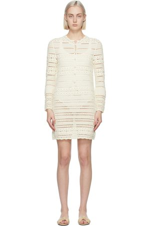 Saint Laurent Off- Crochet Jane Mini Dress