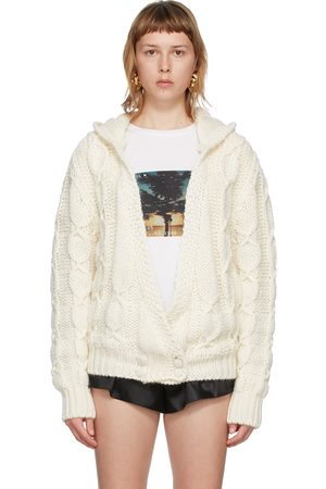 Saint Laurent Off- Mohair and Wool Hooded Cardigan