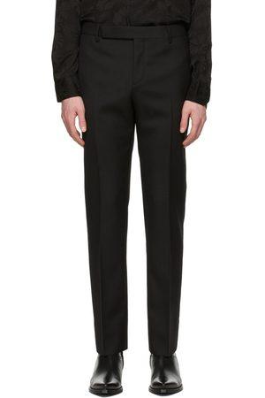 Saint Laurent Men Formal Pants - Wool Gabardine Tailored Trousers