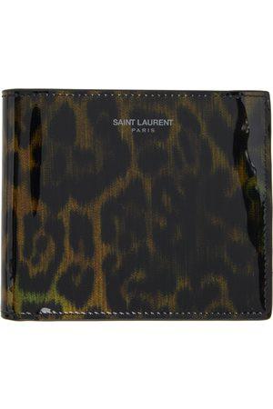 Saint Laurent Men Wallets - And Leopard Print East/West Wallet