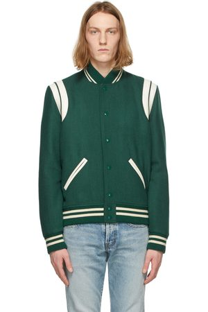 Saint Laurent Wool Teddy Bomber Jacket