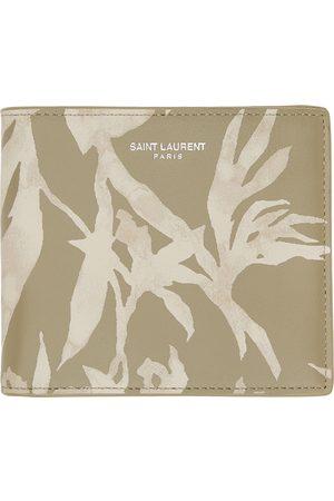 Saint Laurent Men Wallets - And Khaki Printed Bifold Wallet