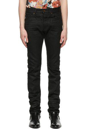 Saint Laurent Coated Slim-Fit Jeans