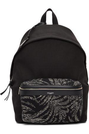 Saint Laurent Palm Print City Backpack