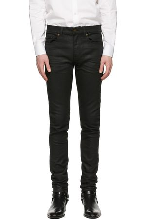 Saint Laurent Men Skinny - Coated Skinny-Fit Jeans