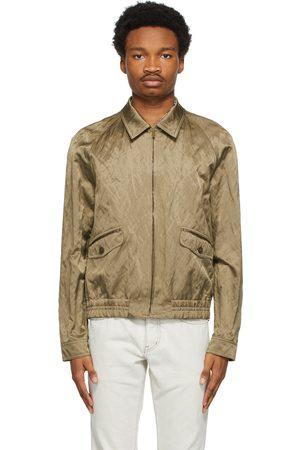 Saint Laurent Khaki Teddy Raglan Jacket