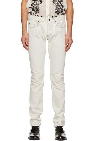 Saint Laurent Off- Straight-Cut Jeans