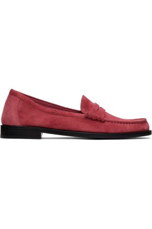 Saint Laurent Suede Le Loafer Monogram Penny Slippers