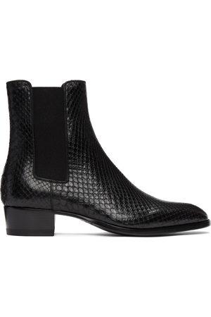 Saint Laurent Men Chelsea Boots - Python Wyatt Chelsea Boots