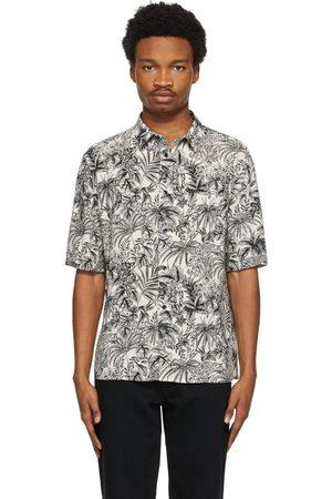 Saint Laurent Men Short sleeves - Off- and Floral Short Sleeve Shirt