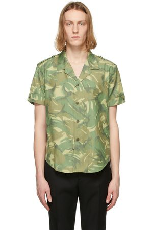 Saint Laurent Khaki Camo Short Sleeve Shirt