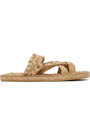 Saint Laurent Raffia Multi-Strap Sandals