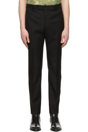 Saint Laurent Men Pants - Wool Gabardine Trousers